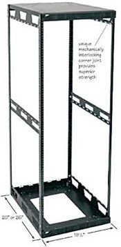 Medium Duty Slim 5 Series 4 Post Rack 2 Depths 6 Heights 10 32 Tapped Slim 20 Width Perfect For Small Data Closets Supports 400 Server Rack Rack Open Frame
