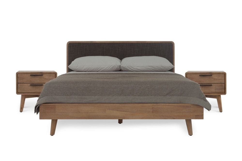 Seb Bed With 2 Side Tables Queen, Queen Bed And Bedside Tables