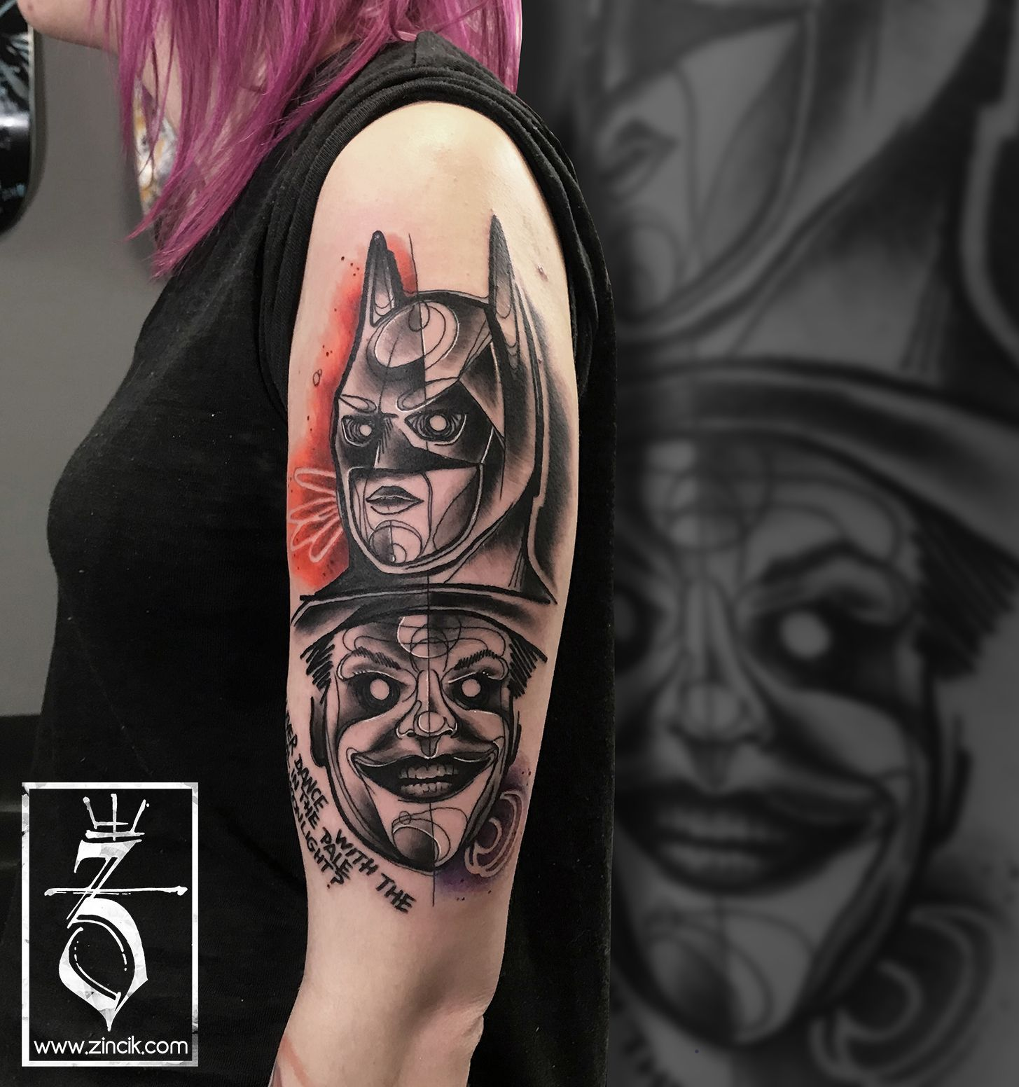 Tattoo Zincik Czech Tattoo Artist Batman And Joker Abstract