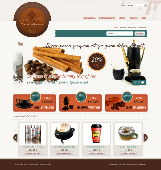 This VirtueMart template has SEO optimization, multiple layout ...