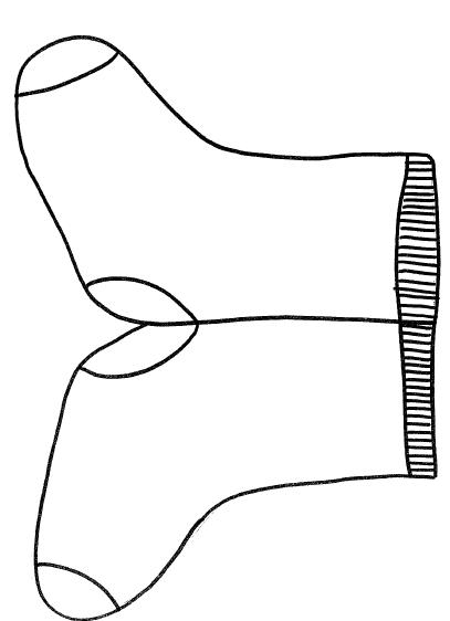 Zählen in Schritten mit Socken? Hier gibt es die Socken Vorlage für ...