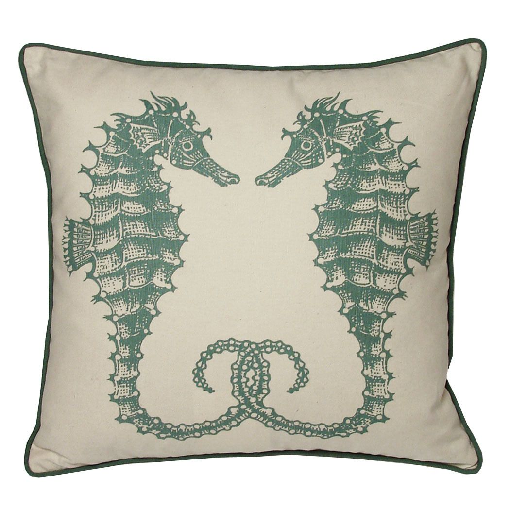 Seahorses pillow.