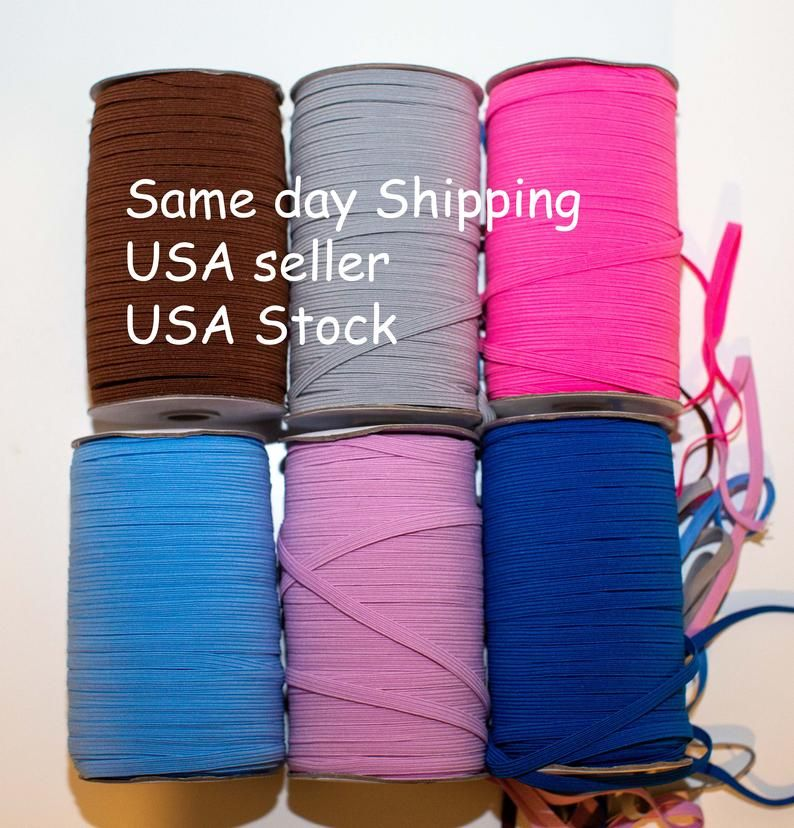 Braided Stretch String for Earloop 30 Yards, Red Strap Cording for Sewing and Crafting Women Wigs Hair Edges Jewelry Bracelet Making DIY 1//4 inch 6mm Flat Elastic Bands Cord Ear Rope