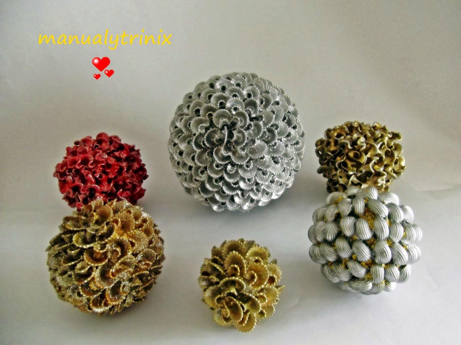 Arbolitos De Navidad Con Pasta De Comer Buscar Con Google  ~ Bolas Para Decorar Centros De Mesa