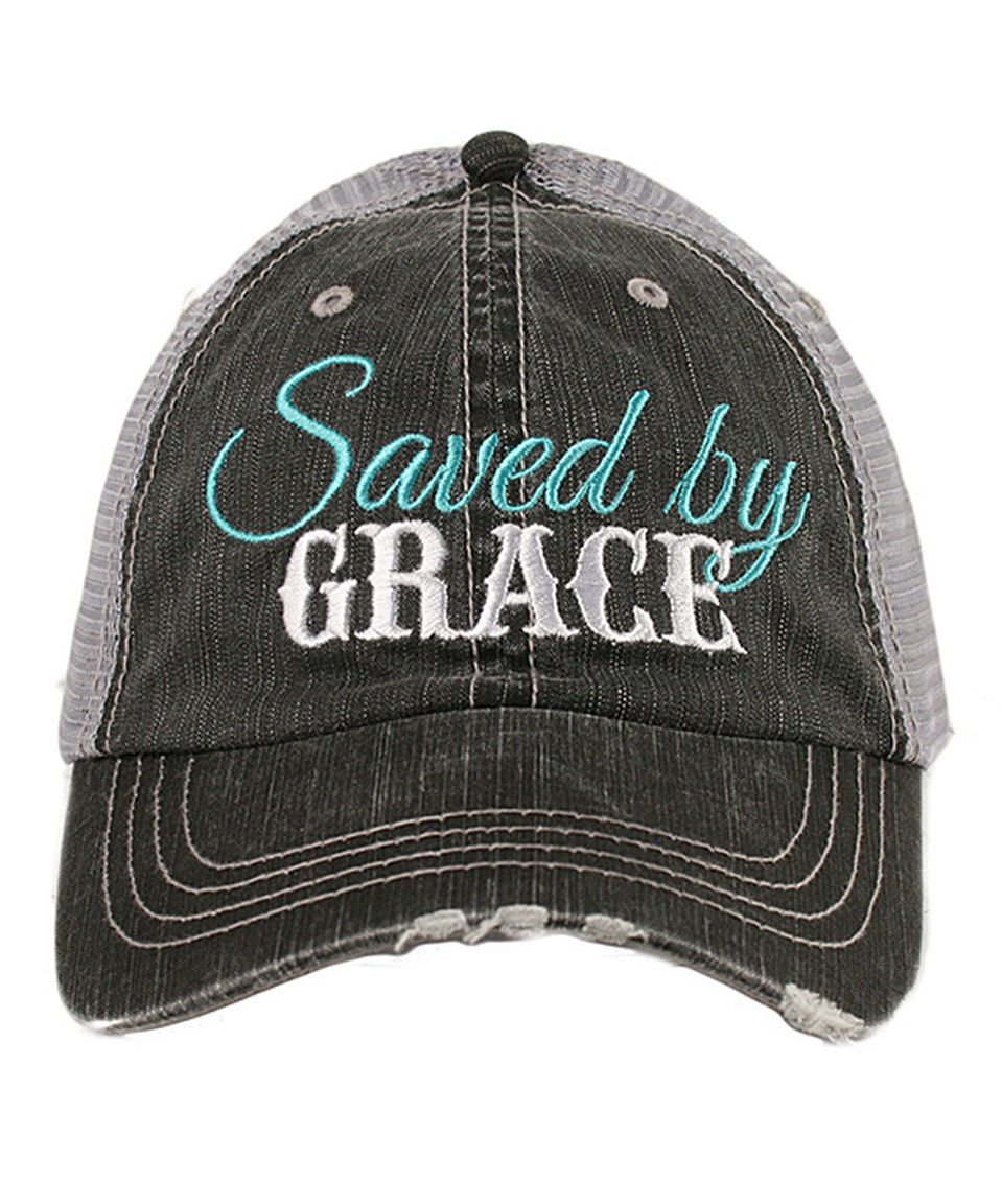 9860b3aedce Another great find on  zulily! Katydid Collection Gray  Saved By Grace   Baseball Cap by Katydid Collection  zulilyfinds