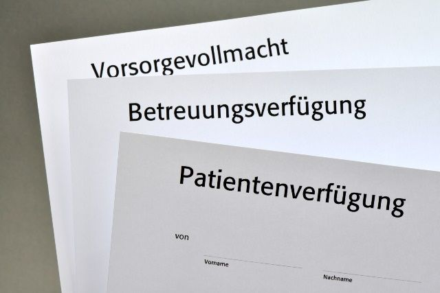 Muster Vorsorgevollmacht Und Betreuungsverfugung Patientenverfugung Vollmacht Vorsorge