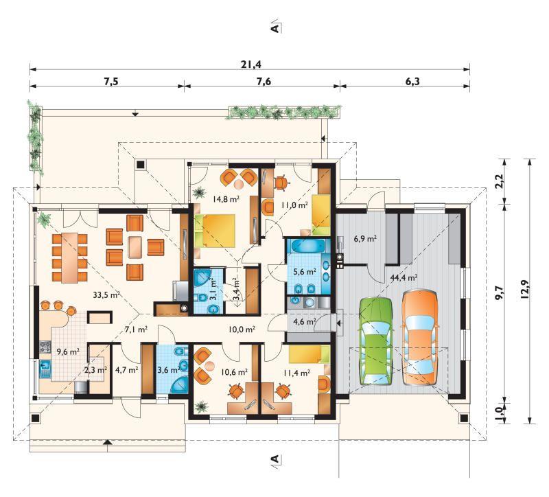 Rzut parteru Home decor Pinterest Bungalow, Villa plan and House - plan maison france confort