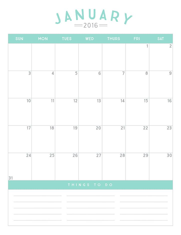 Free Printable 2016 Calendar 2016 calendar, Free printable and - printable time sheet