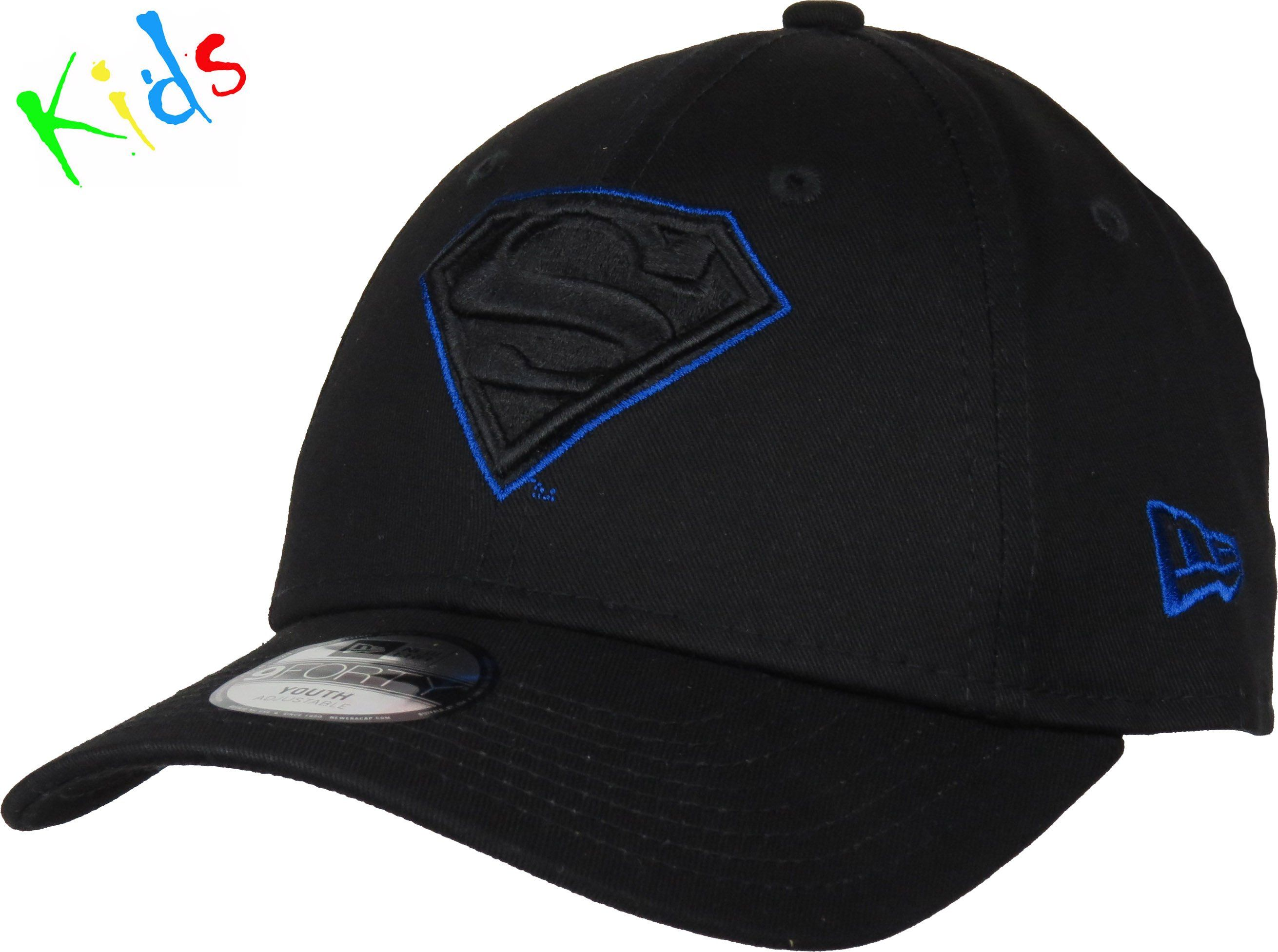 half off 09090 1e879 New Era 940 Kids Character Outline Adjustable Superhero Cap. Black with the  Superman Outlines front