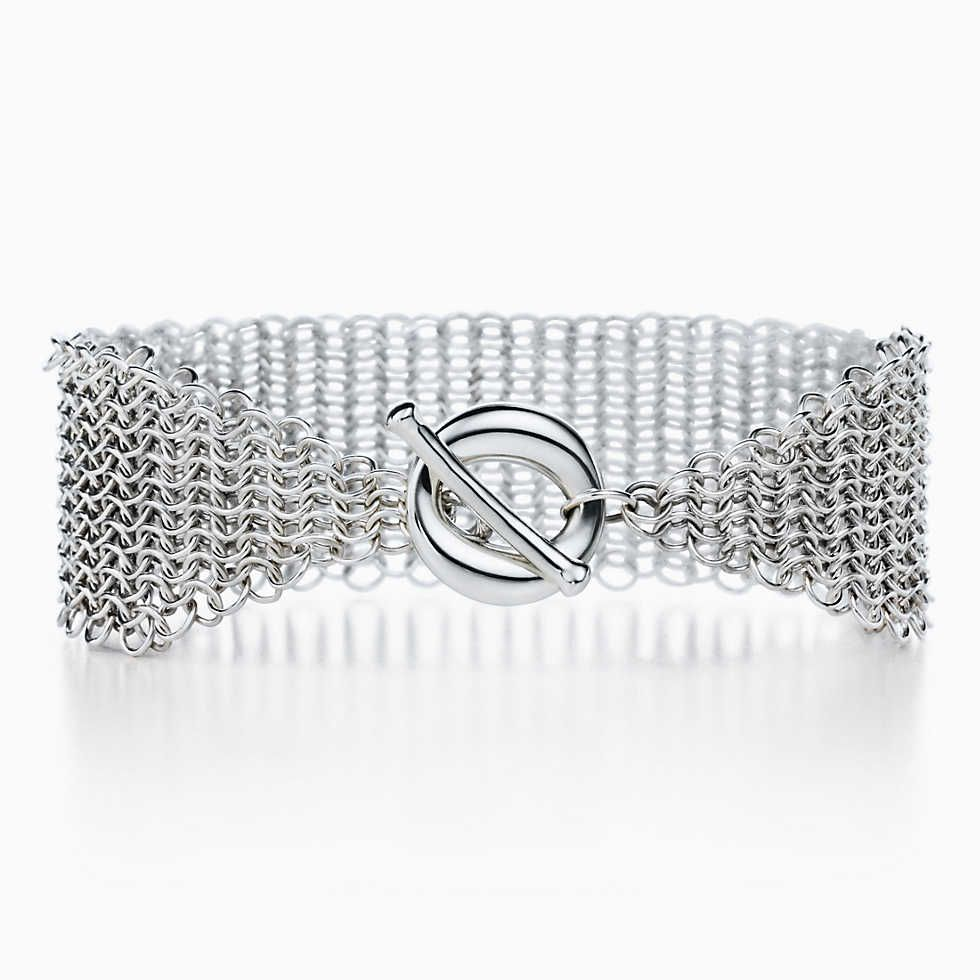 5d99ae082 Paloma's Melody five-band bangle in 18k white gold with diamonds and  spinels. | Tiffany & Co.