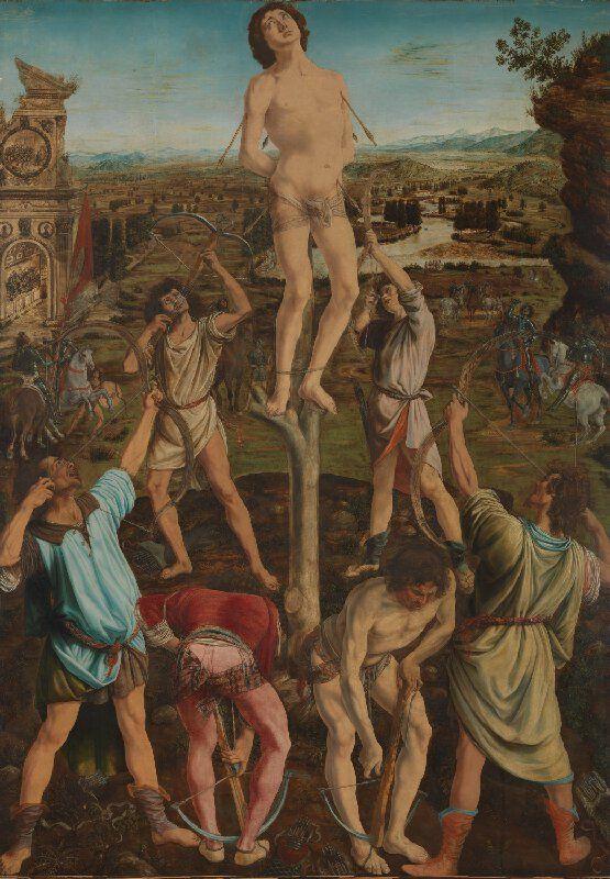 Initial O Illuminated Manuscripts Fine Art Print The Martydom of St Sebastian