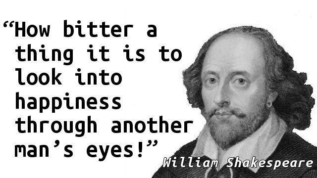 William Shakespeare Bitterness