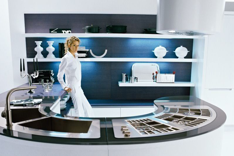 Futuristic Kitchen nice pedini round the futuristic kitchen - stylendesigns