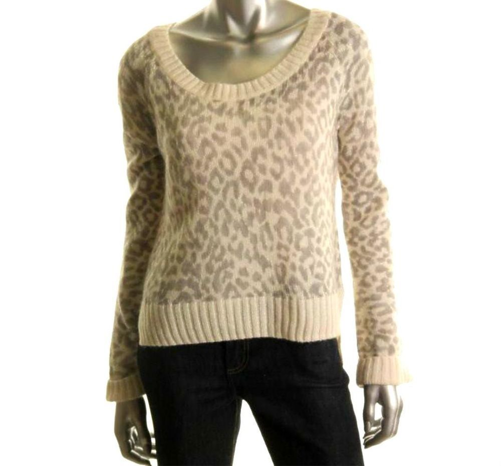 Victoria's Secret Sz L Large Animal Print Pullover Boyfriend ...