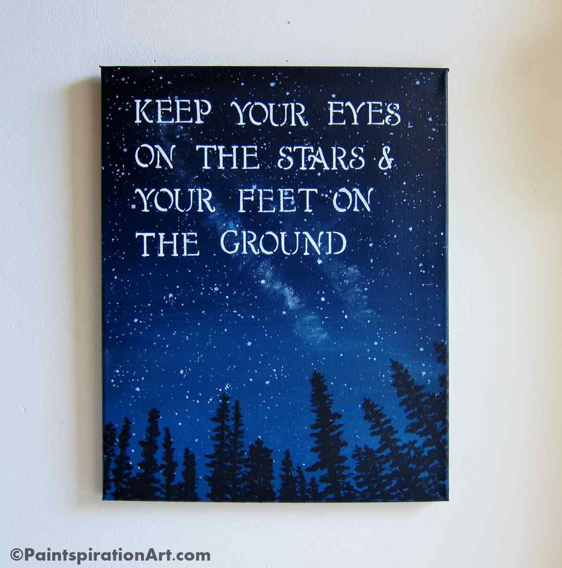 Quote Paintings Inspirational Quotes Canvas Painting  Sayings Keep Your Eyes On