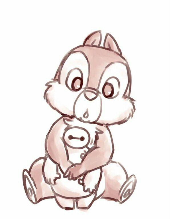 Tic et baymax dessin dessins disney dessin kawaii et dessin maman - Personnage disney dessin ...