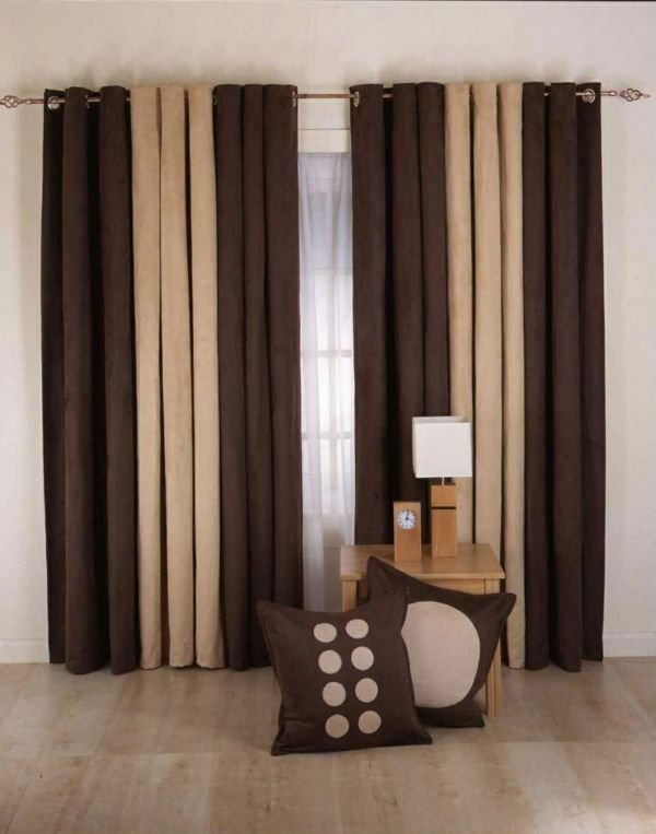 Living Room Curtains For A Nicely Decorated Interior Brown Living Room Decor Brown Curtains Living Room Living Room Decor Curtains