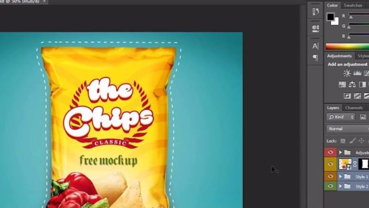 Download How To Design Chips Bag Packaging Label In Photoshop Latest Tutorial Chip Bag Packaging Labels Chips