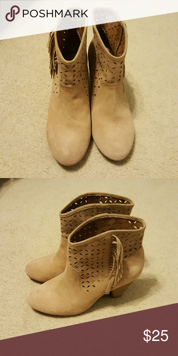 Jessica Simpson ankle boots ?? Cute, Jessica Simpson suede ankle boots that look practically new. I wore them only a few times. Size 9. Jessica Simpson Shoes Ankle Boots & Booties