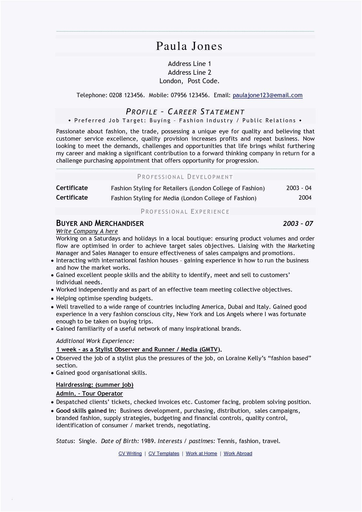 Nanny Job Description For Resume Unique Resume Writing Karate Do