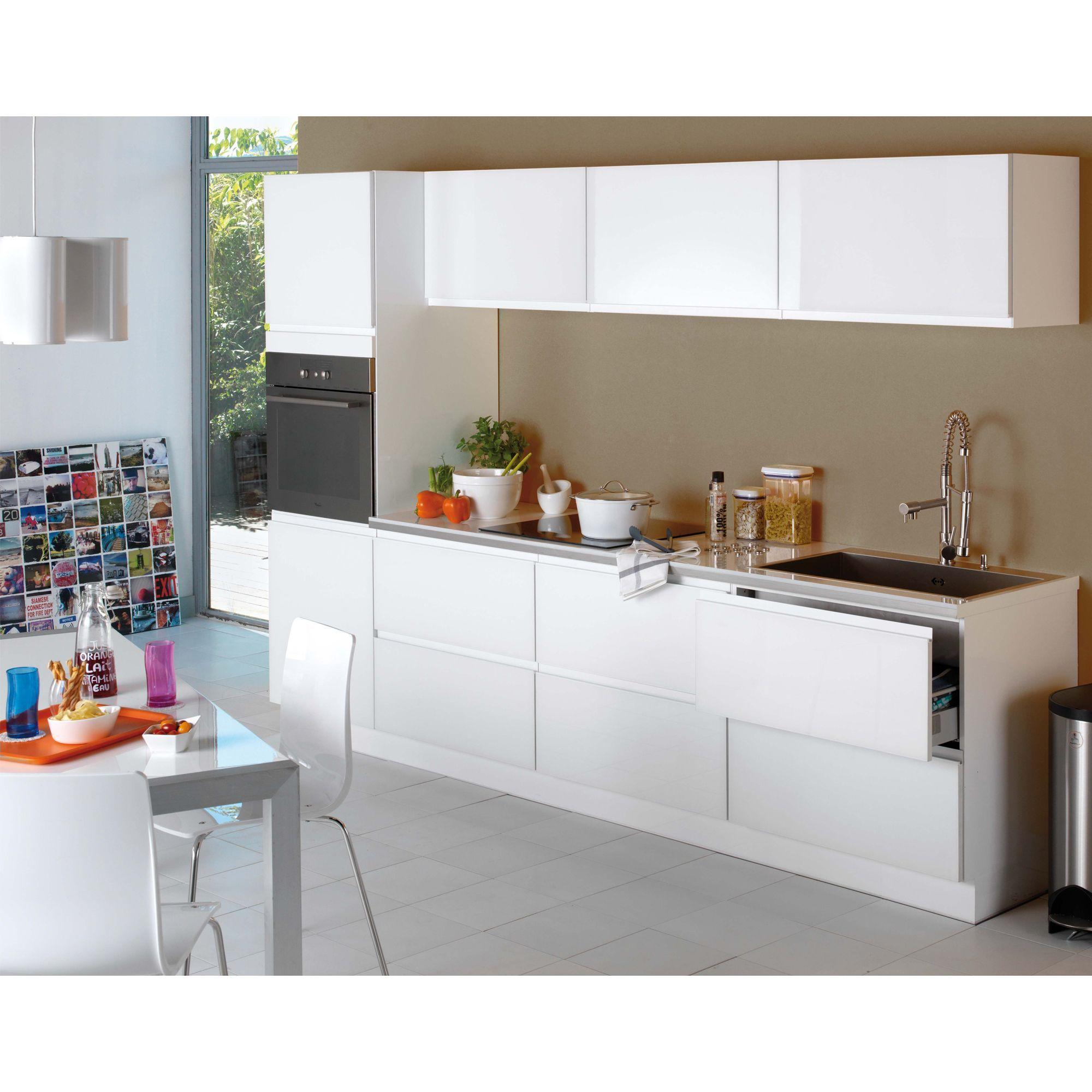 Cuisine A Composer Modele Type Blanc Pure Bandeau Les Cuisines A Composer Alinea Meubles De Cuisine Mobilier De Salon Meuble Deco Decoration Interieure
