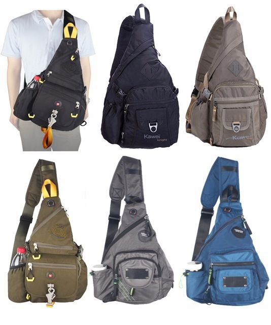 b8f67eb222 Innturt Men s Women s Large Nylon Sling Bag Chest Shoulder Bag Hiking  Bicycle Gym 14