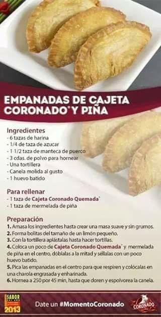 Empanada de cajeta Coronado y piña