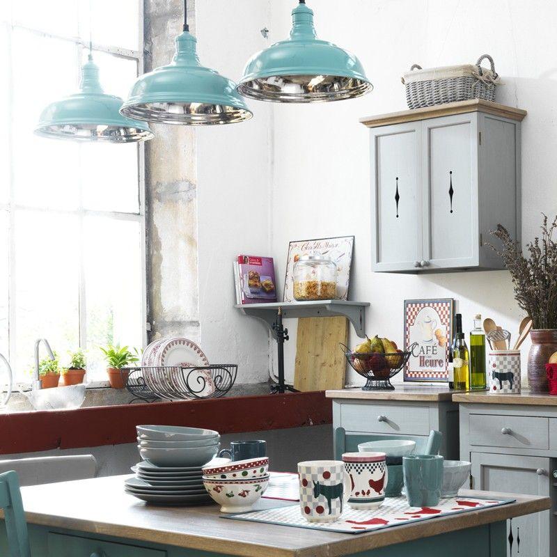Lustre cuisine style bistrot r tro boutique comptoir de - Cuisine style bistrot chic ...