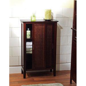 Bamboo Floor Cabinet with Sliding Doors, Espresso | My wishlist ...