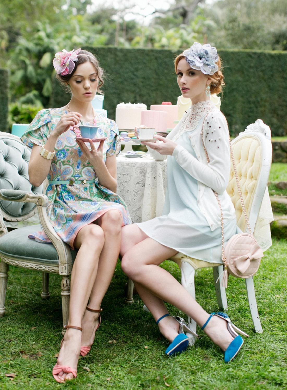 Tea For Two Ruche Spring Lookbook Tea Party Outfits Tea Party Attire Garden Party Outfit [ 1498 x 1101 Pixel ]
