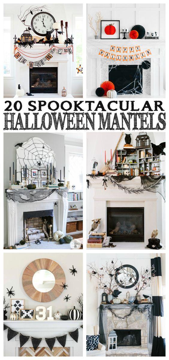 20 Spooktacular Halloween Mantels Halloweeeeeeen! Pinterest