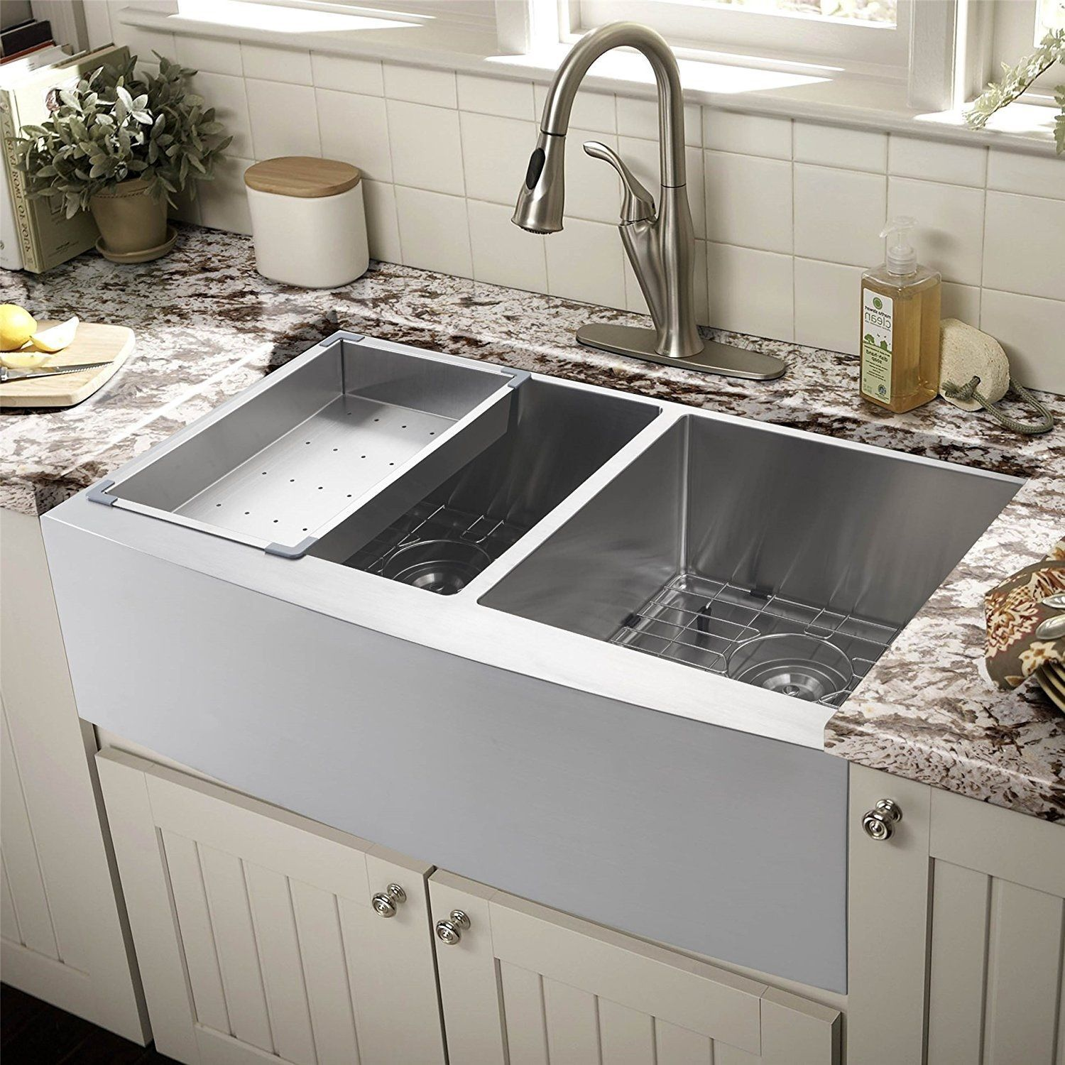 Stainless Steel Farmhouse Sinks Apron Front Sinks Best Kitchen Sinks Farmhouse Sink Kitchen Corner Sink Kitchen
