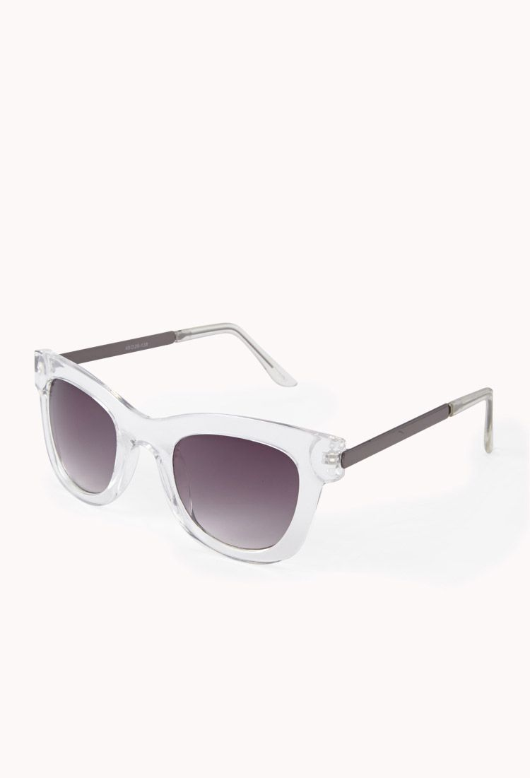 f2b40fb4aaa F1730 Clear Square-Frame Sunglasses