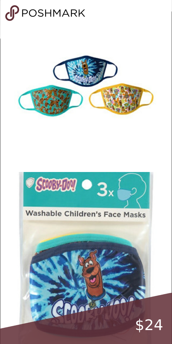 NWT Set of 3 Kids Scooby Doo Masks