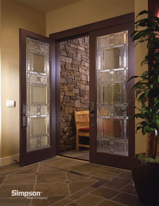 Exquisite Front Entry Doors At Home Depot Fiberglass: Exquisite Design On This Simpson Custom Glass Door