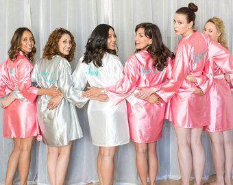 eb78e682c0 Bridesmaid Robe Bridal Bridesmaid Robes SATIN by WeddingsEtcetera ...