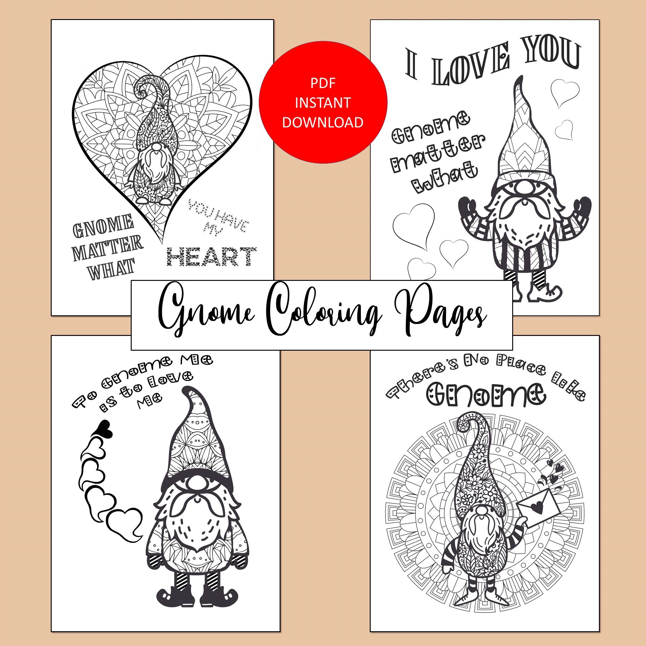 Gnome Coloring Pages Adult Coloring Pages Printable