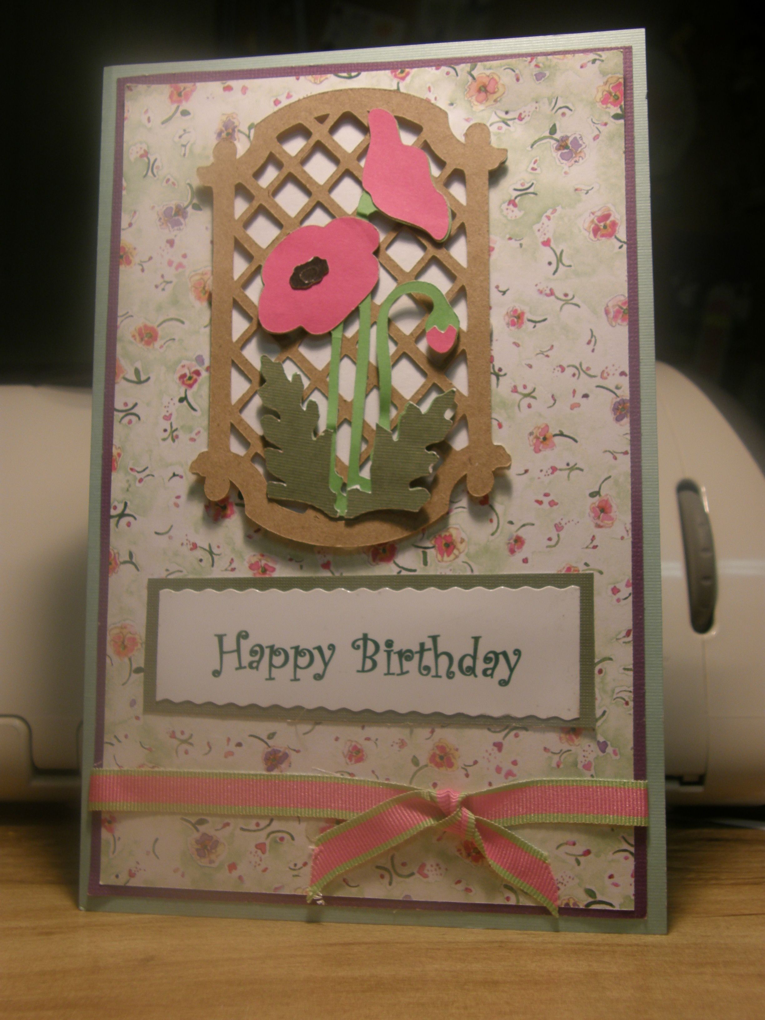Marvelous Card Making Ideas With Cricut Part - 7: A Birthday Card Made From Creative Card Cricut Cartridge For A Friend.