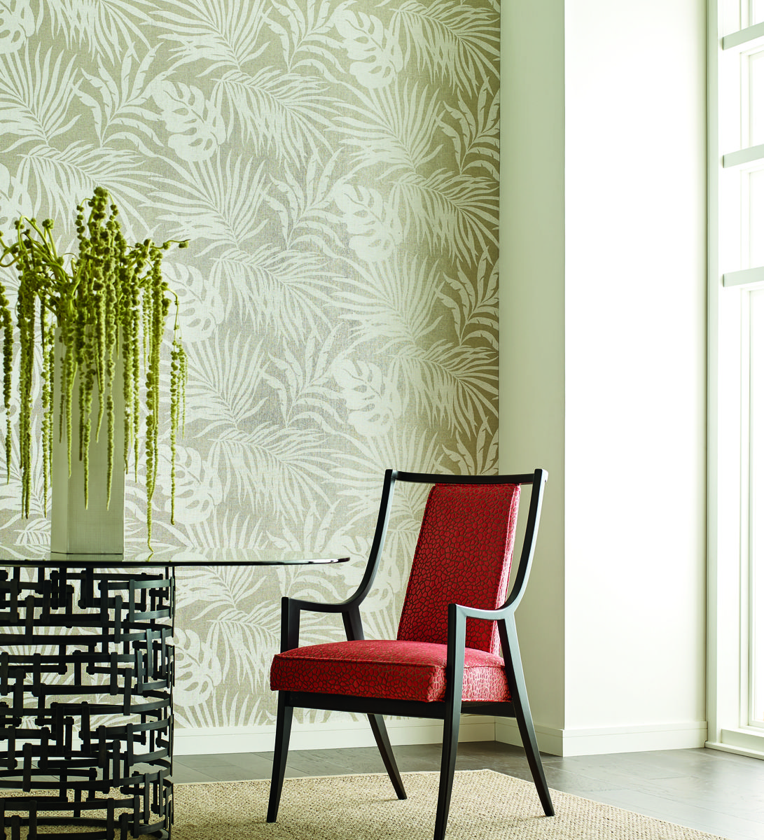 York SO2494 Candice Olson Tranquil Paradise Palm Wallpaper