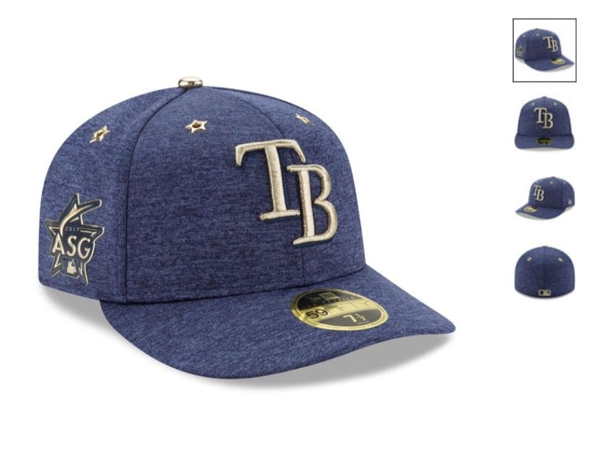 new concept c44b6 f81f8 Tampa Bay Rays New Era 2017 MLB All-Star Game Side Patch Low Profile 59FIFTY  Fitted Hat - Heathered Navy Special Event Item