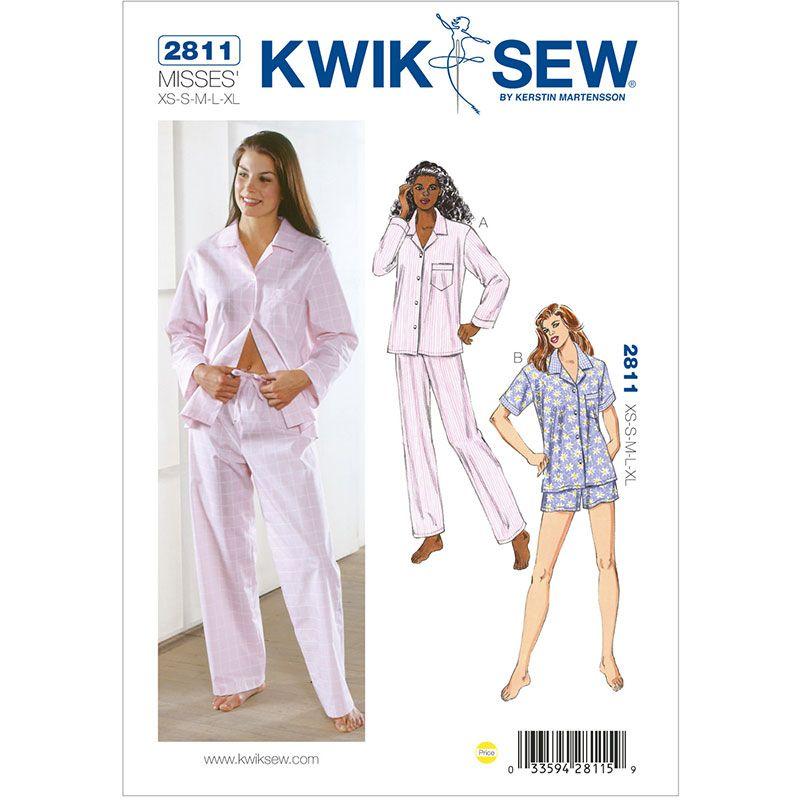 Misses Pyjamas Kwik Sew Sewing Pattern No. 2811 | naaldwerk | Pinterest
