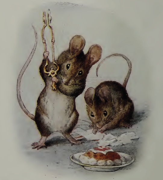 The Tale Of Two Bad Mice Showing Tom Thumb Smashing The Plaster