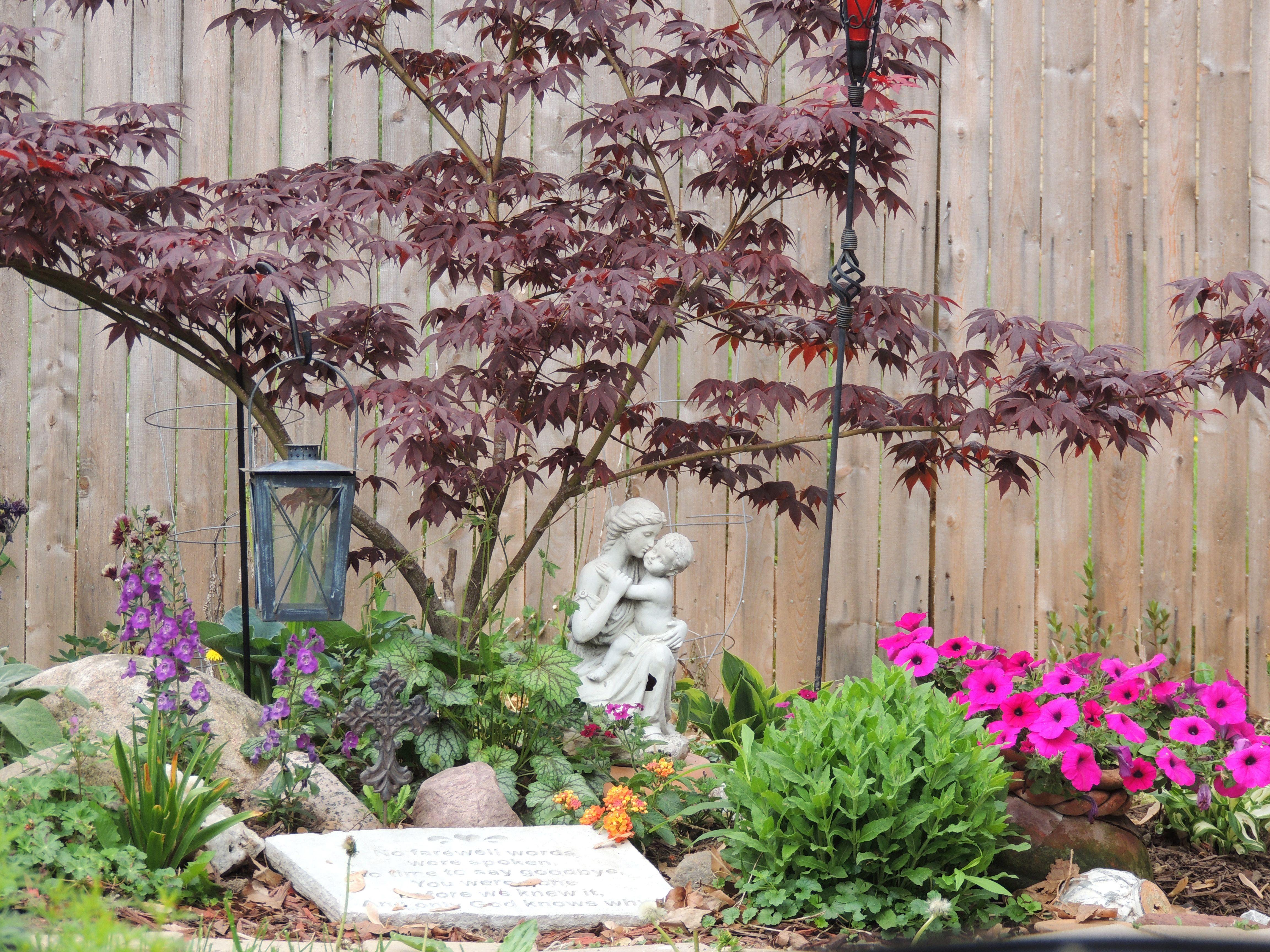My Son S Memorial Garden Memorial Garden Flower Garden Plans Small Memorial Garden Ideas Backyard diy memorial garden