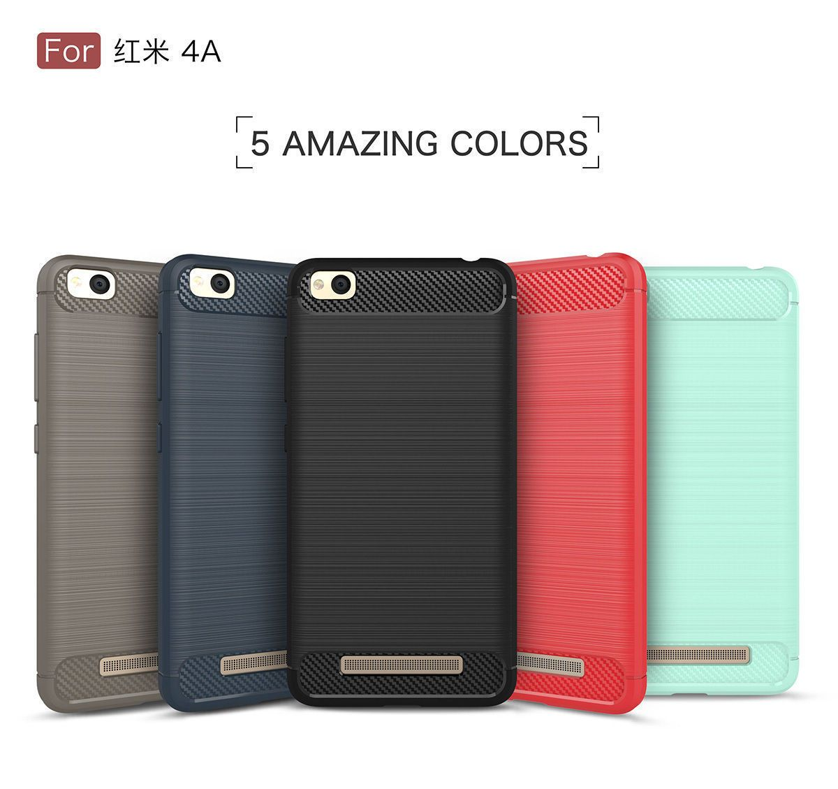 Hot Sale For Xiaomi Redmi 4a Brushed Slim Soft Rubber Back Drawing Ipaky Case Mi Max Gold Cover