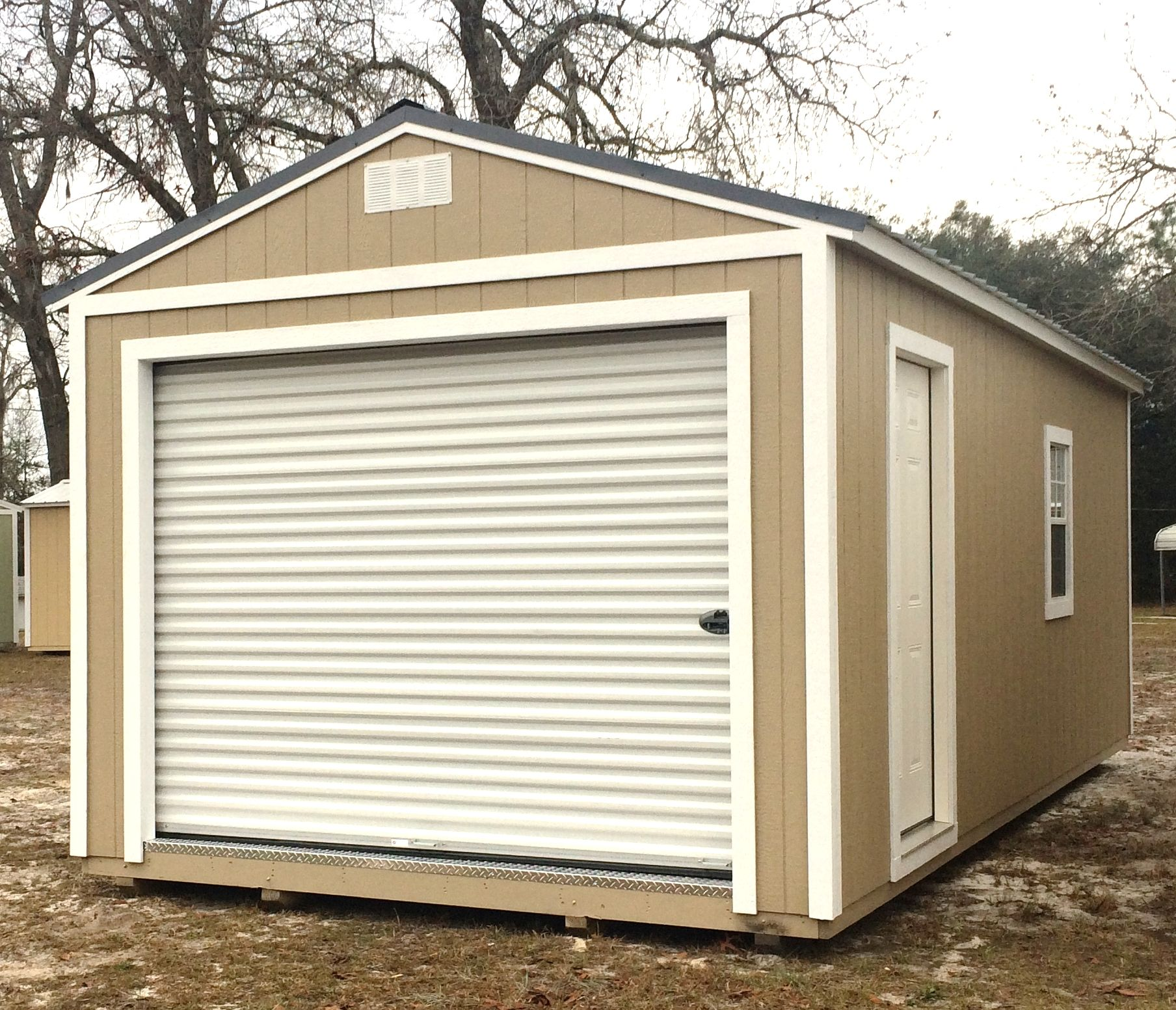 Coastal Portable Buildings Portable Garage 12x24 In Sw Taupe Coastalportablebuildings Garage B Portable Buildings Portable Garage Outdoor Storage Solutions