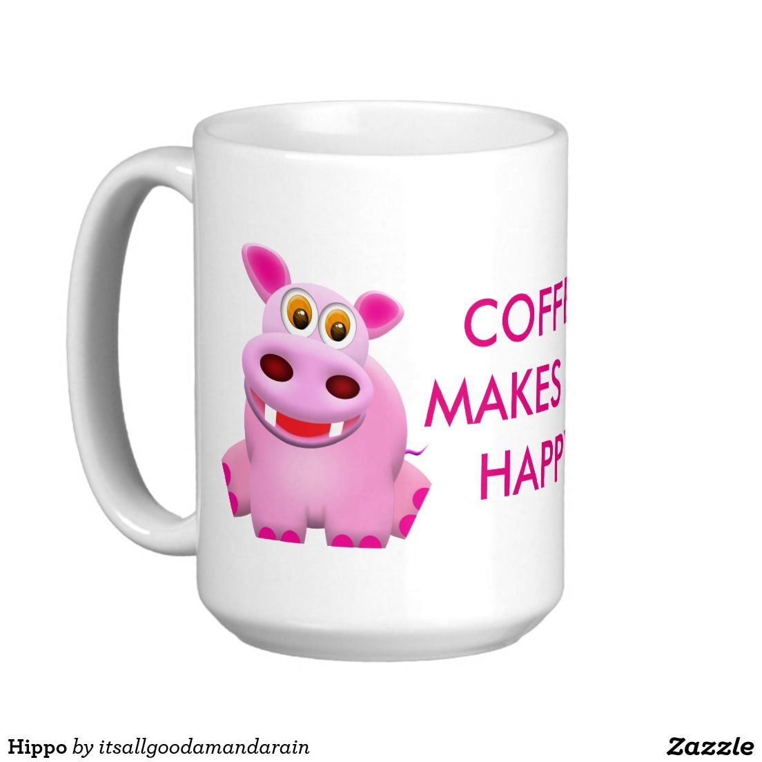 Hippo Classic White Coffee Mug | All About the Kitchen | Pinterest ...