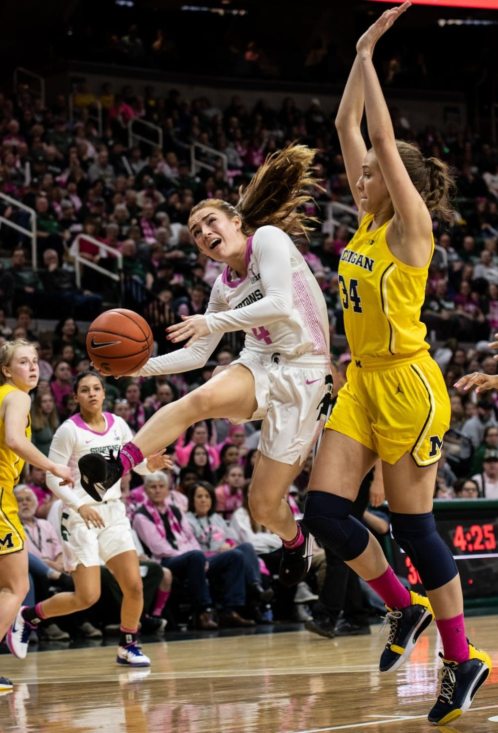 The Tide Has Been Turning Women S Basketball Players Coaches Discuss The Michigan Michigan State Rival In 2020 Womens Basketball Female Athletes Basketball Players
