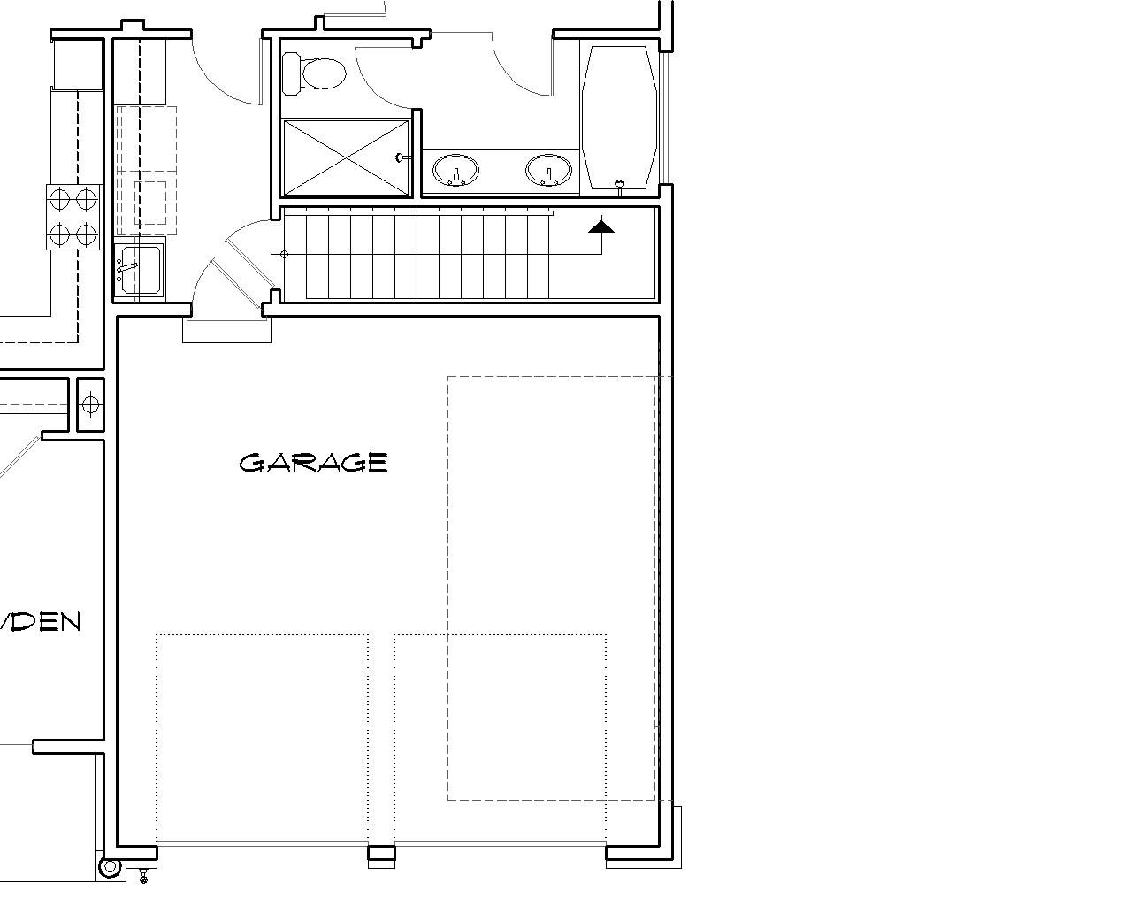 Basement Stair Designs Plans basement stair location image of featured house plan bhg - 2432