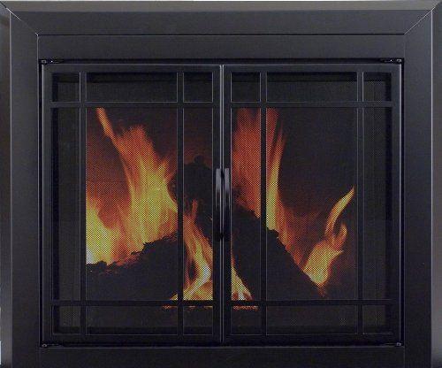 Pleasant Hearth Ea 5011 Easton Fireplace Glass Door Midnight