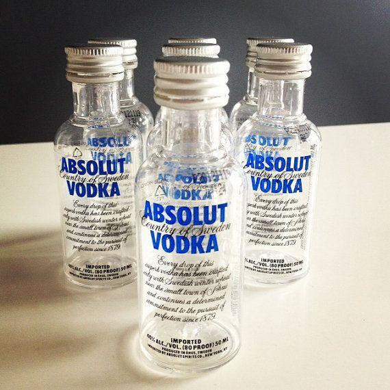 7 Absolut Vodka Mini Liquor Bottles Airplane Size   Tiny ...